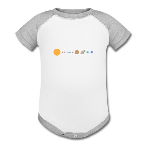 Flat earth conspiracy theory humor illustration - Contrast Baby Bodysuit