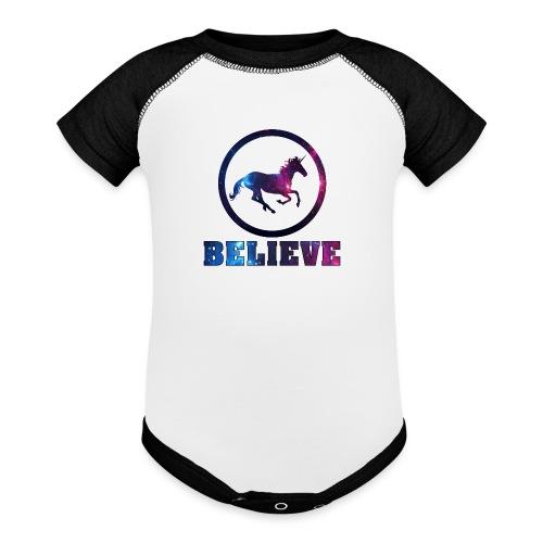 Believe Unicorn Universe 4 - Baseball Baby Bodysuit