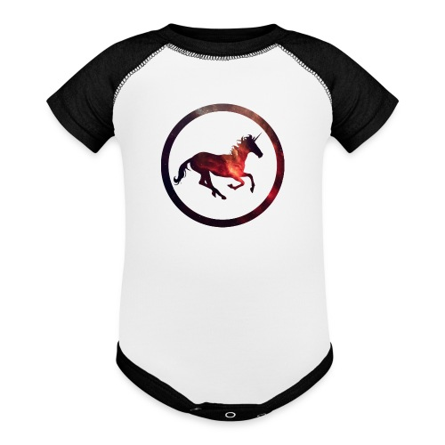 Believe Unicorn Universe 2 - Baseball Baby Bodysuit