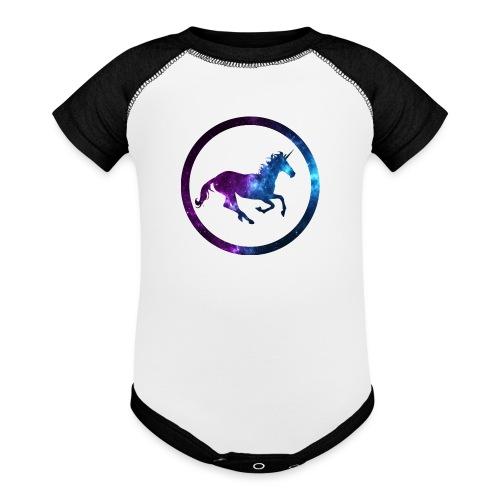 Believe Unicorn Universe 3 - Baseball Baby Bodysuit