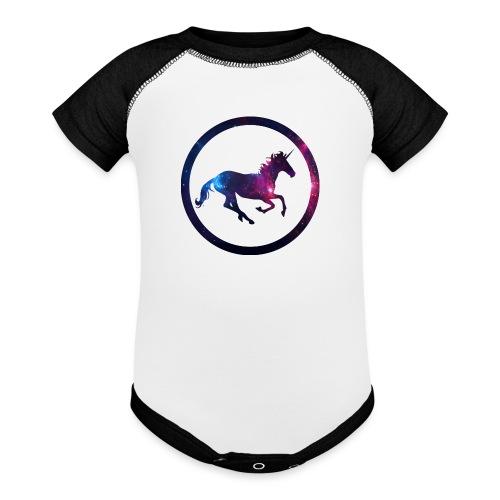Believe Unicorn Universe 1 - Baseball Baby Bodysuit
