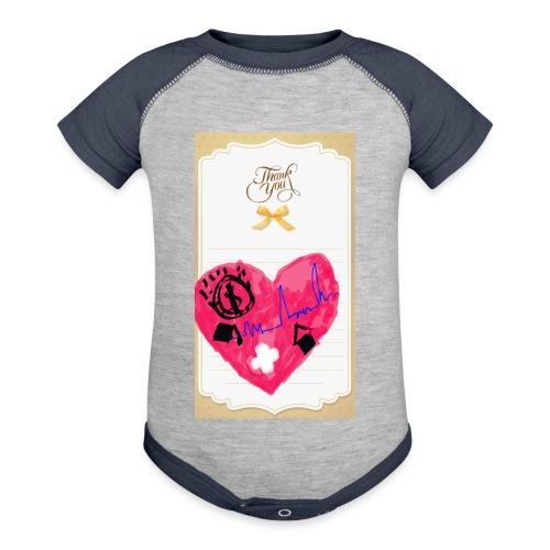 Heart of Economy 1 - Contrast Baby Bodysuit