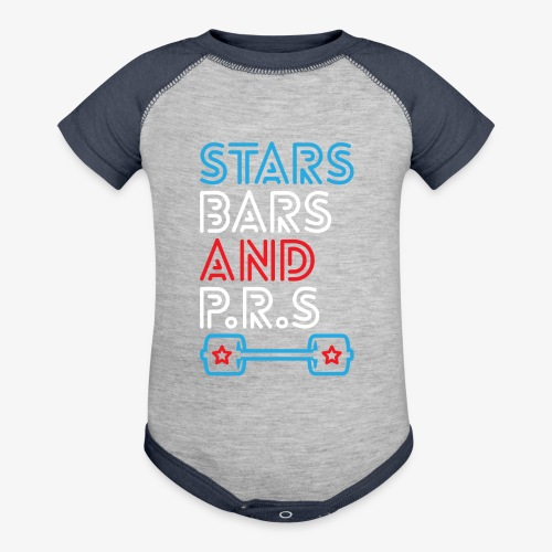 Stars, Bars And PRs - Contrast Baby Bodysuit