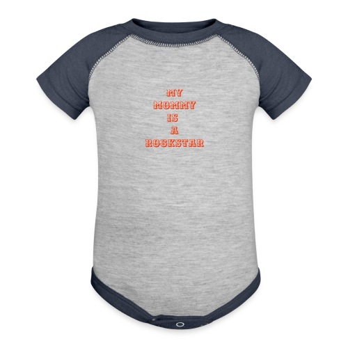 my mommy is a rockstar - Baby Contrast One Piece