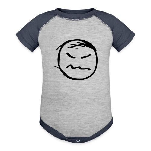 kicky head solo - Baseball Baby Bodysuit