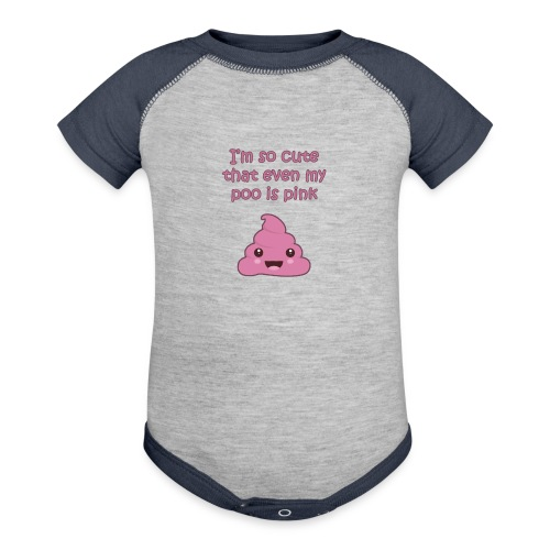 Adorable pink poo - Baby Contrast One Piece