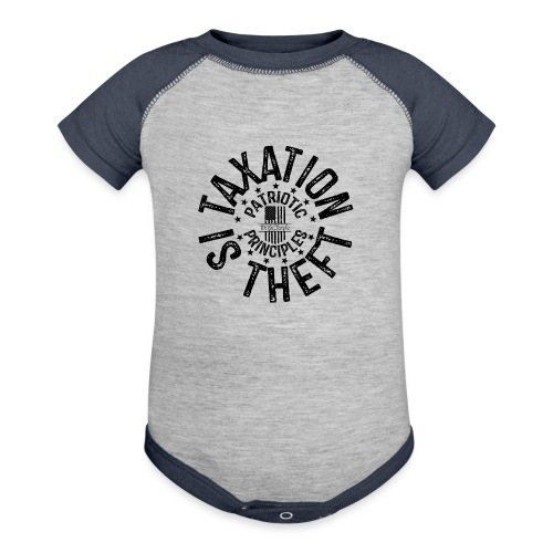 OTHER COLORS AVAILABLE TAXATION IS THEFT BLACK - Contrast Baby Bodysuit
