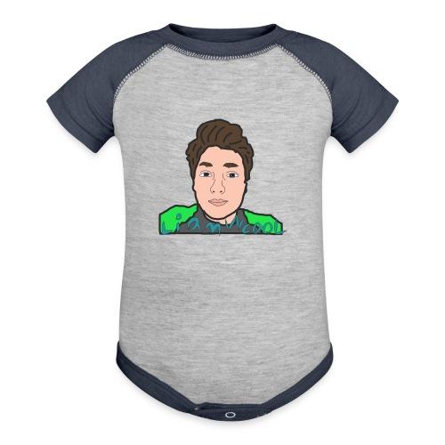 LiamWcool head tee - Baseball Baby Bodysuit