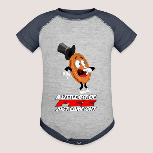 THE SCARED PENNY WITH TEXT - Baseball Baby Bodysuit
