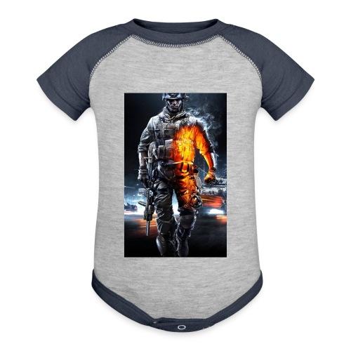 Cod fan - Contrast Baby Bodysuit
