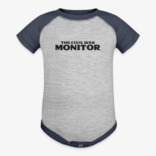 CWM LOGO BLACK - Contrast Baby Bodysuit