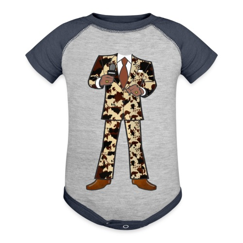 The Classic Cow Suit - Baseball Baby Bodysuit