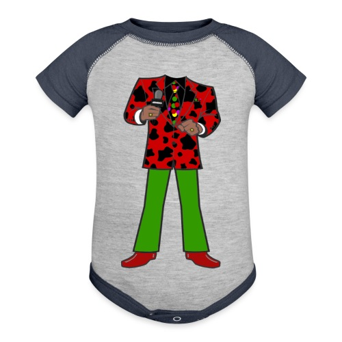 The Red Cow Suit - Baseball Baby Bodysuit