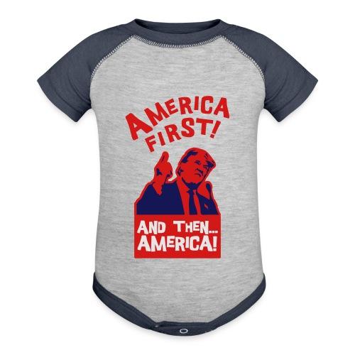 AMERICA FIRST - Baseball Baby Bodysuit