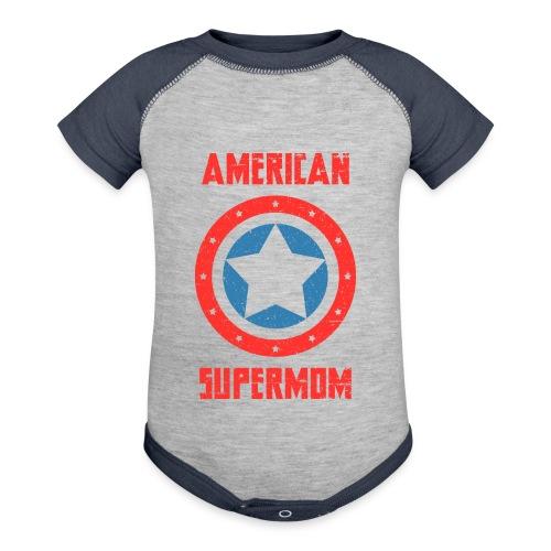 American Supermom - Baseball Baby Bodysuit