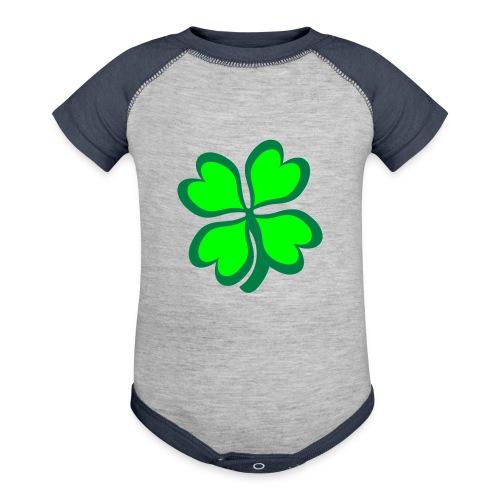 4 leaf clover - Baseball Baby Bodysuit
