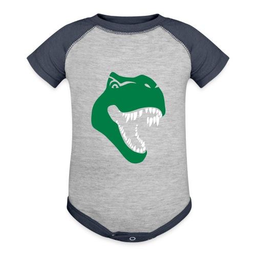 tyrannosaurus rex t-rex dino dinosaur jurassic - Baseball Baby Bodysuit