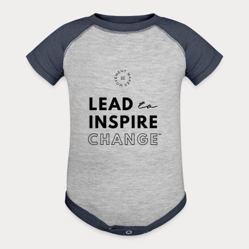 Lead. Inspire. Change. - Baseball Baby Bodysuit