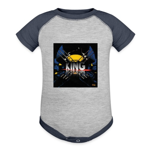 ones wolverine was a king!! - Contrast Baby Bodysuit
