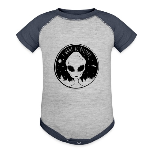 I Want To Believe - Baseball Baby Bodysuit
