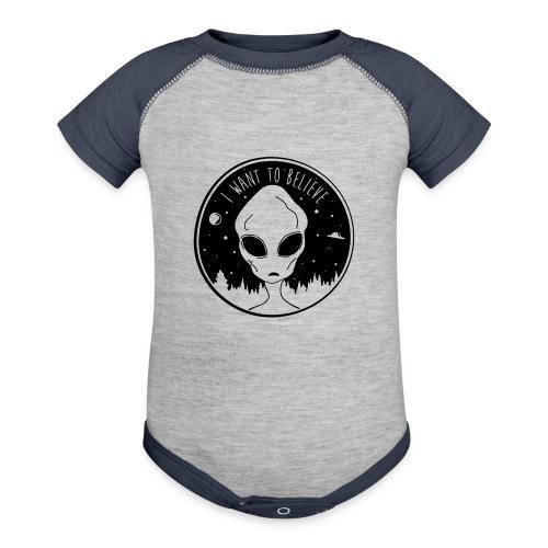 I Want To Believe - Contrast Baby Bodysuit