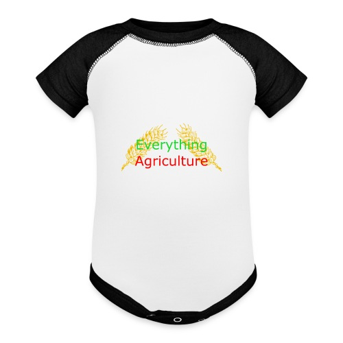 Everything Agriculture LOGO - Contrast Baby Bodysuit