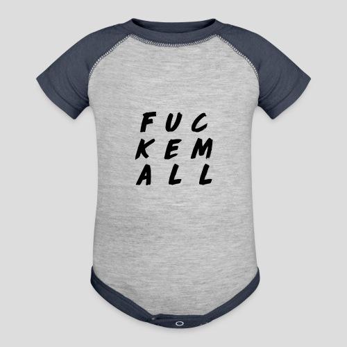 FUCKEMALL Black Logo - Contrast Baby Bodysuit