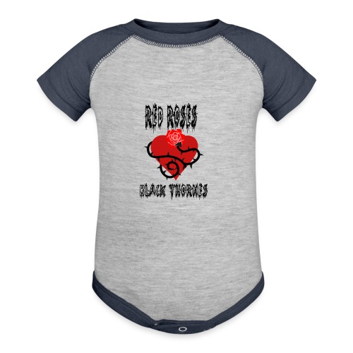 Your'e a Red Rose but a Black Thorn shirt - Contrast Baby Bodysuit