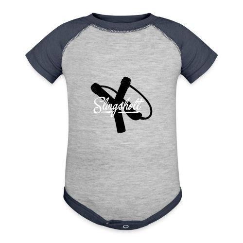 Exclusive Slingshott Logo - Contrast Baby Bodysuit