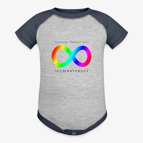 Embrace Neurodiversity - Contrast Baby Bodysuit