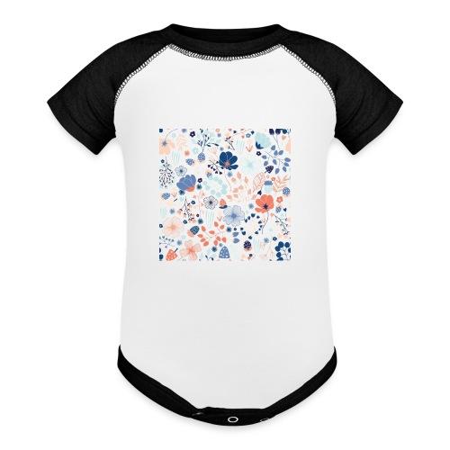 flowers - Baseball Baby Bodysuit