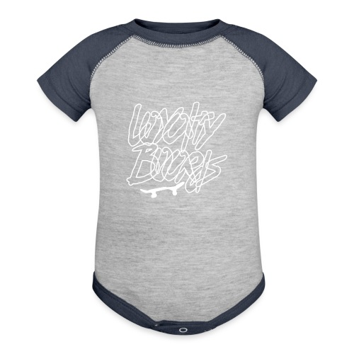 Loyalty Boards White Font With Board - Baseball Baby Bodysuit