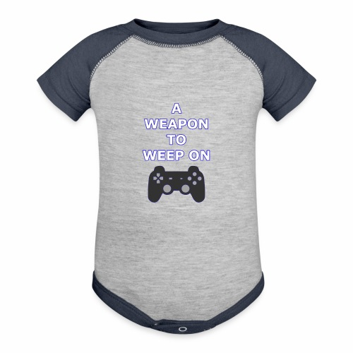 A Weapon to Weep On - Baseball Baby Bodysuit
