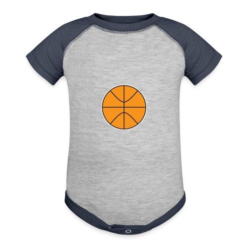 Plain basketball - Baseball Baby Bodysuit