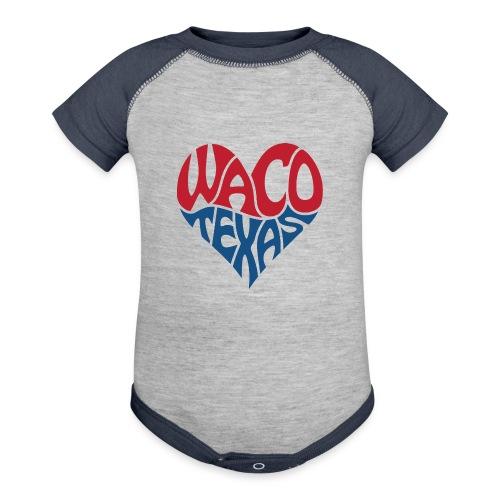 Heart of Waco Texas - Baseball Baby Bodysuit