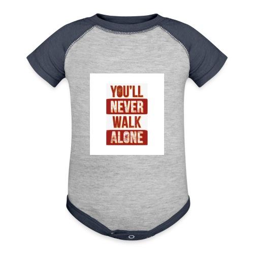 liverpool fc ynwa - Contrast Baby Bodysuit