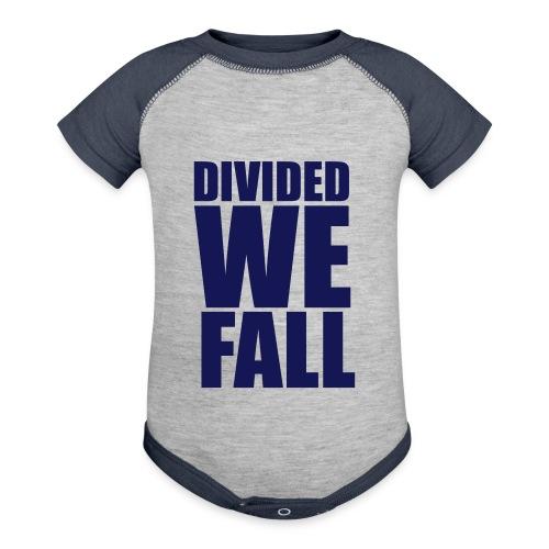 DIVIDED WE FALL - Baseball Baby Bodysuit