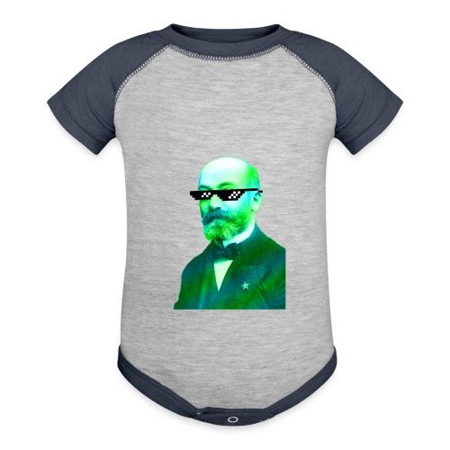 Green and Blue Zamenhof - Baseball Baby Bodysuit