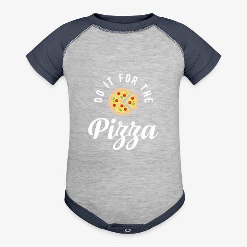 Do It For The Pizza - Baseball Baby Bodysuit