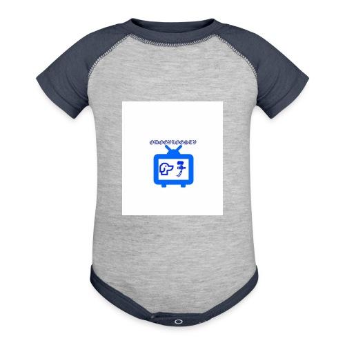 OdogVlogsTv Offical Logo - Baseball Baby Bodysuit