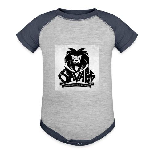 king savage - Contrast Baby Bodysuit