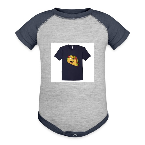 evil taco merch - Contrast Baby Bodysuit