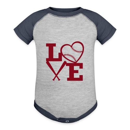 Love baseball - Baseball Baby Bodysuit