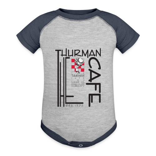 Thurman Cafe Traditional Logo - Baseball Baby Bodysuit
