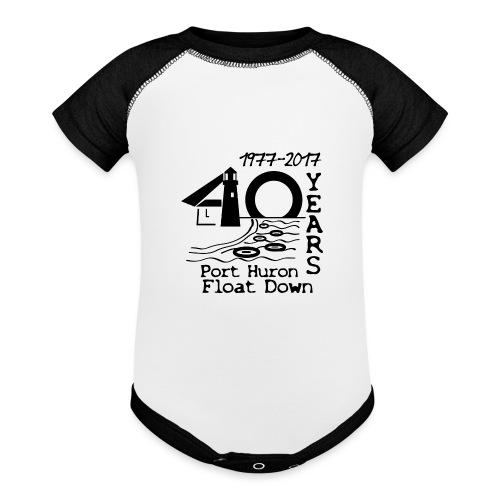 Port Huron Float Down 2017 - 40th Anniversary Shir - Baseball Baby Bodysuit