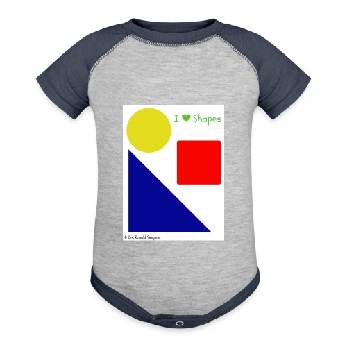 Hi I'm Ronald Seegers Collection-I Love Shapes - Contrast Baby Bodysuit