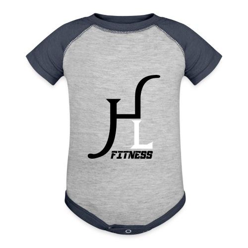 HIIT Life Fitness logo white - Baseball Baby Bodysuit