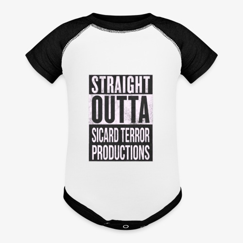 Strait Out Of Sicard Terror Productions - Baseball Baby Bodysuit