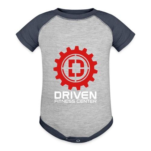 Stacked Logo - Contrast Baby Bodysuit