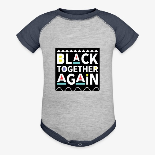 Black Together Again - Baseball Baby Bodysuit